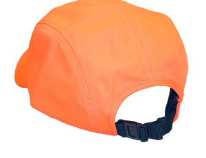 Backside view of The Casual Runner Performance Cap in orange.