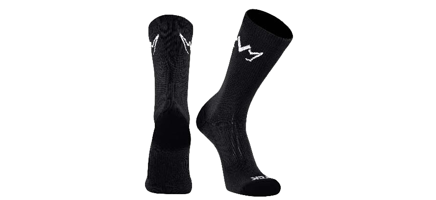 The black MVM Training Crew Socks with the MVM Crown on both side of the sock.