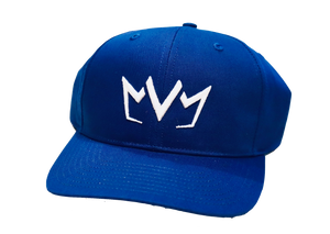 Royal blue MVM Crown Snapback with the MVM Crown embroidered on the front.