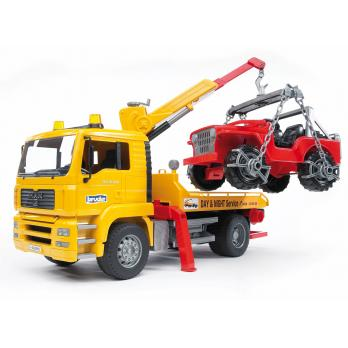 Bruder Tow Truck with Cross Country Vehicle