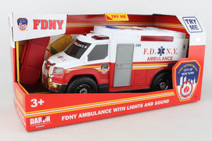 Ambulance (With Lights and Sounds) - FDNY - Medium