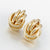 Flashbuy Gold Silver Alloy Drop Earrings For Women Exaggeration Earrings Wedding Simple Fashion Jewelry Trend Accessories - Shop 9ice