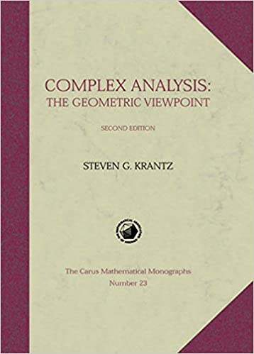 Complex Analysis The Geometric Viewpoint
