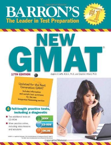 Barron's NEW GMAT with CD-ROM, 17th Edition