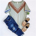 Callie Chevron Top