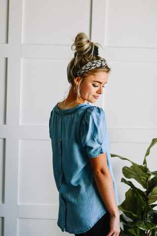 Love Me Chambray Top