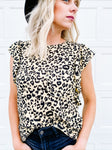 Carly Leopard Ruffle Top
