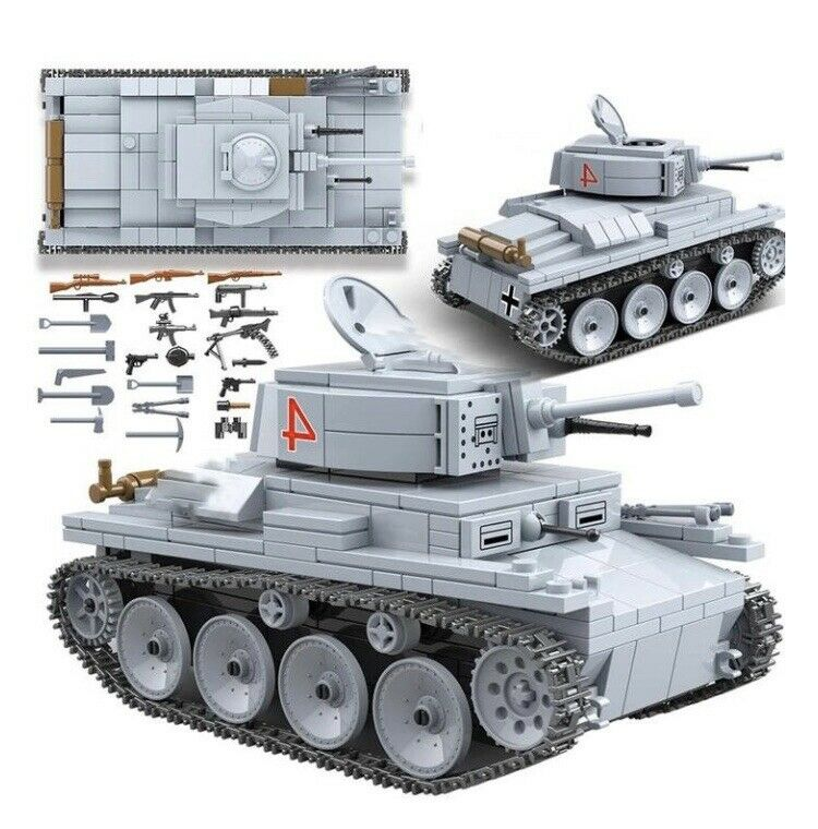 WW2 Tank (German LT-38 Light Tank) Building Blocks Set-General Jim's Toys & Bricks