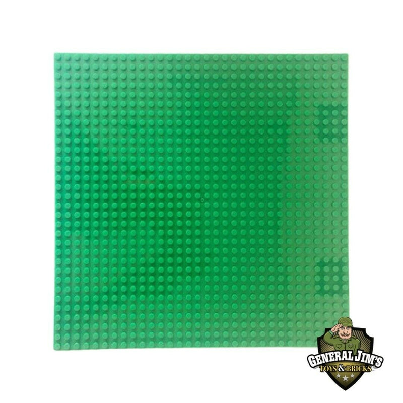Classic Green 10 x 10 Baseplates - Building Blocks Baseplates-General Jim's Toys & Bricks