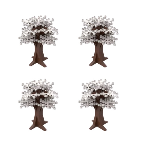 WHITE Tree Decorations - Trees - WHITE Building Bricks City Bush tree Decor X 4-General Jim's Toys & Bricks