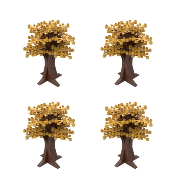 TAN Tree Decorations - Tan Trees - Bushes Building Bricks City Bush tree Decor X 4-General Jim's Toys & Bricks