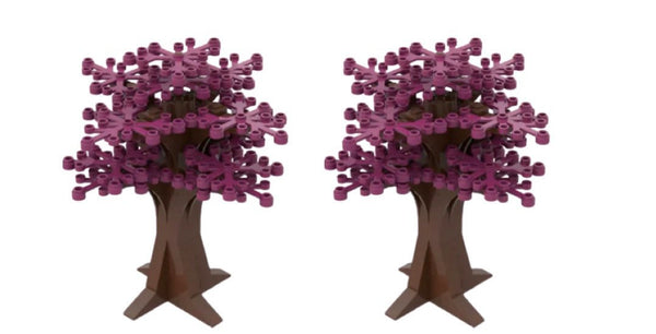 PINK Tree Decoration - PINK Tree - PURPLE Building Bricks City Bush tree Decor X 2-General Jim's Toys & Bricks