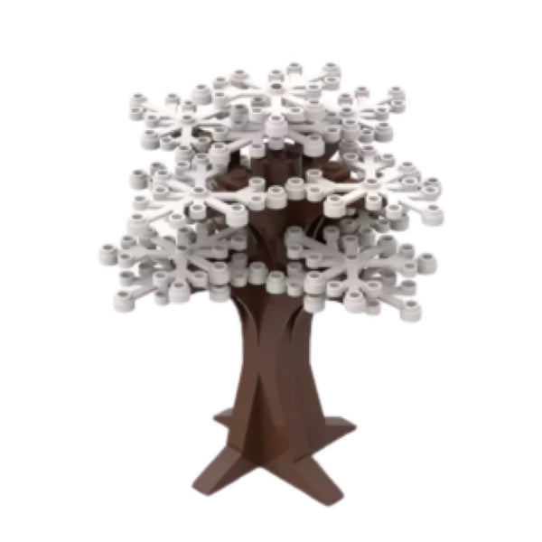 WHITE Tree Decoration - Tree - WHITE Building Bricks City Bush tree Decor X 2 NEW-General Jim's Toys & Bricks