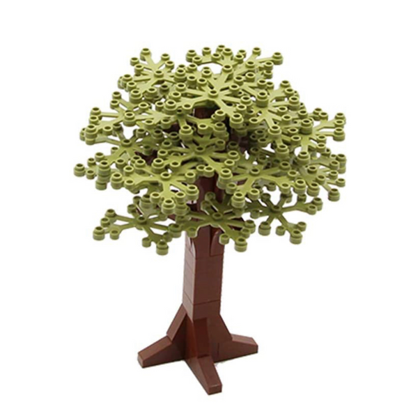 NEW Olive GREEN Tree Decoration -  Tree - Building City Bush tree Decorations X 4