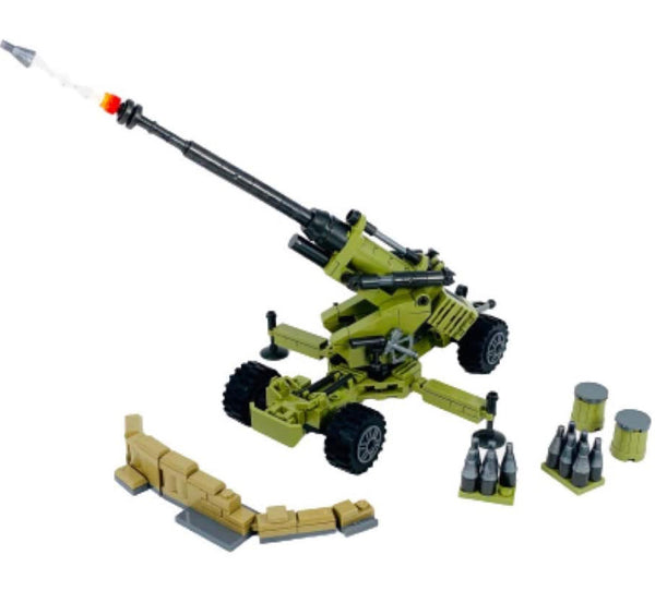 American 155mm Howitzer Building Blocks Weapon Set-General Jim's Toys & Bricks