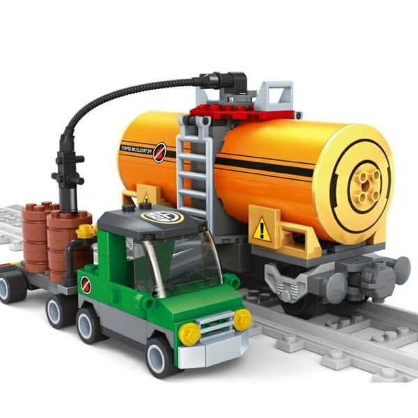 Large Capacity Tank Car For Building Blocks Toy Building