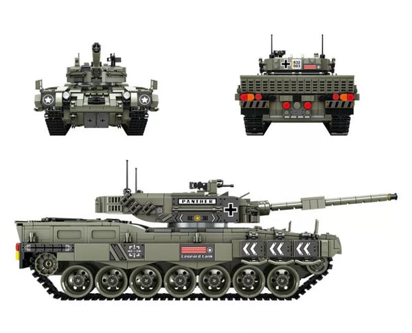 WW2 Tank (Leopard 2 Heavy Tank)-General Jim's Toys & Bricks