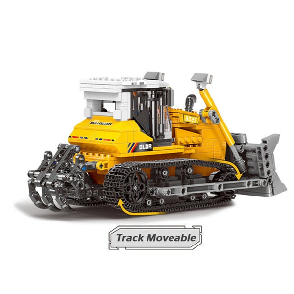 703 Pc Construction Bulldozer Toy Set - Building Blocks Toy Set-General Jim's Toys & Bricks