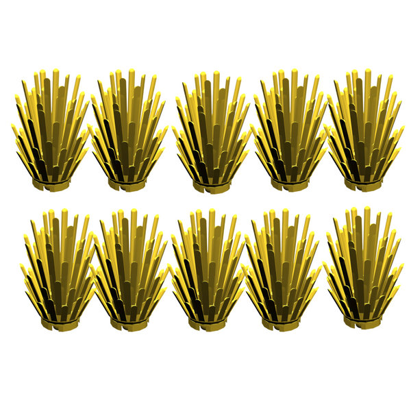 Lot of 10 Yellow Prickly Bush Plants-General Jim's Toys & Bricks