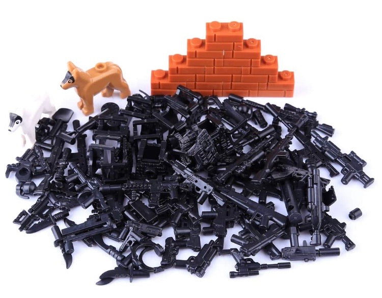Weapons Pack for Building Blocks-General Jim's Toys & Bricks