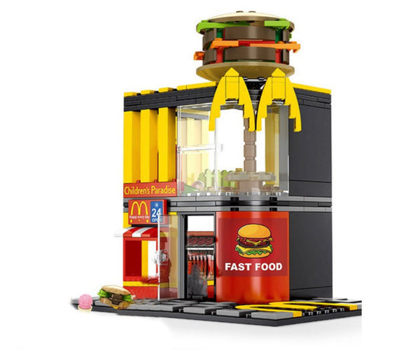 274 Piece City Creator Street Fast Food Restaurant