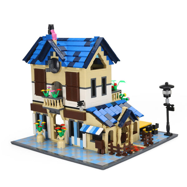 1298PCS City Street French Lodge House Building Blocks