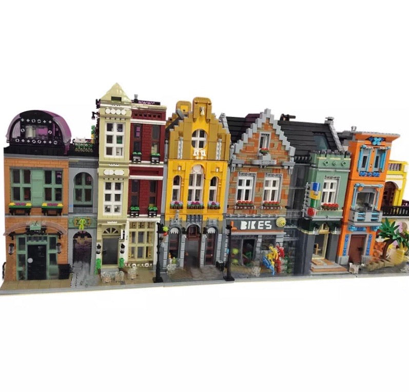 The Bike Shop Streetview City Creator Building Blocks Toy Brick Set