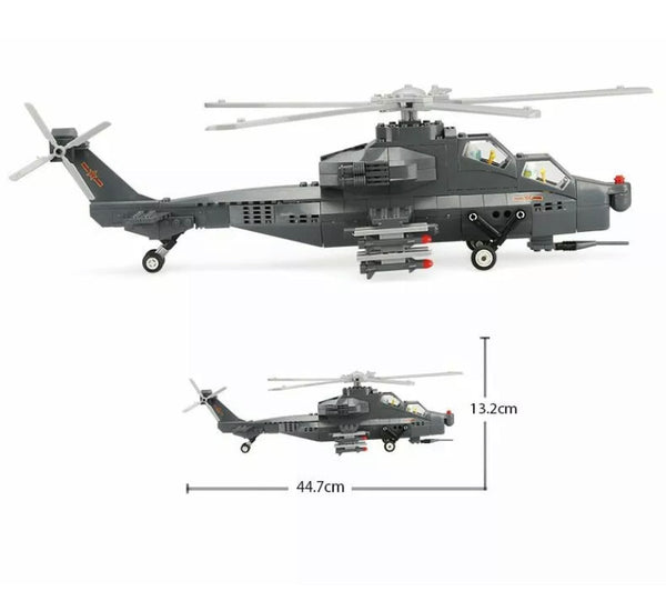 WZ-10 Military Building Blocks Helicopter