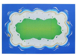 Complete Grass Oasis Beach Island Base Plate Baseplates 10 x 10 Kit-General Jim's Toys & Bricks