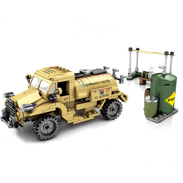 Army Military Water Tanker Truck Building Blocks Set-General Jim's Toys & Bricks