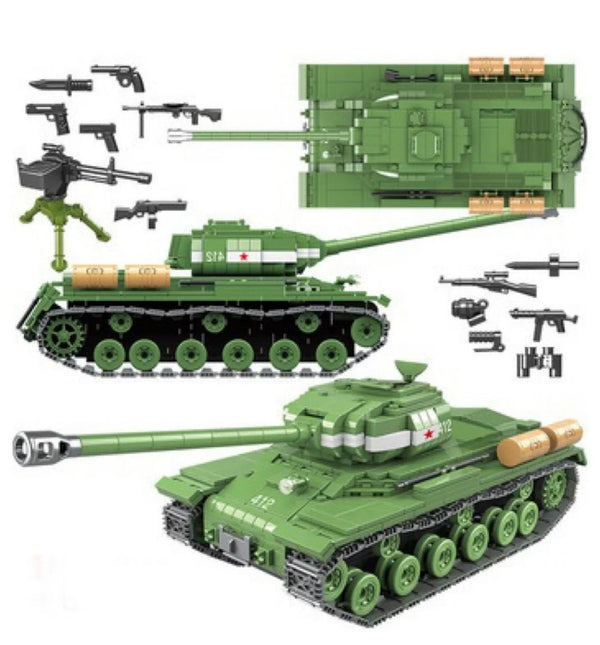 WW2 Tank (Soviet Russia IS-2M Heavy Tank) - Building Blocks Toy Set-General Jim's Toys & Bricks
