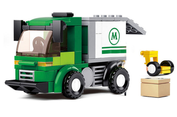 City Series Delivery Truck - Building Blocks Toy Set