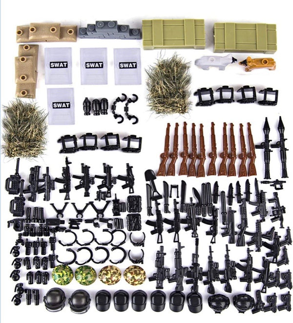 267 Piece Swat Tactical Unit Weapons Pack for Building Blocks-General Jim's Toys & Bricks