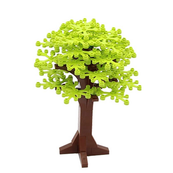 NEW LIME GREEN Tree Decoration -  Tree - Building City Bush tree Decorations X 4
