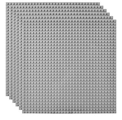 Pack of 4 - Gray Baseplates Baseplates Grey Plates 10x10-General Jim's Toys & Bricks