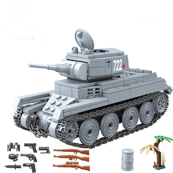 BT-7 Calvary Russian Army Tank Building Blocks Set-General Jim's Toys & Bricks