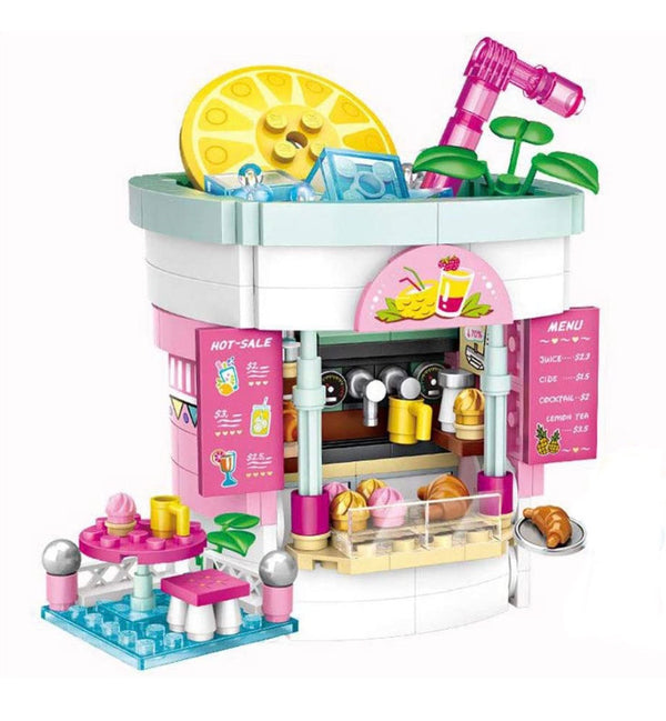 Amusement Park Fruit Treat Stand Mini Bricks Set