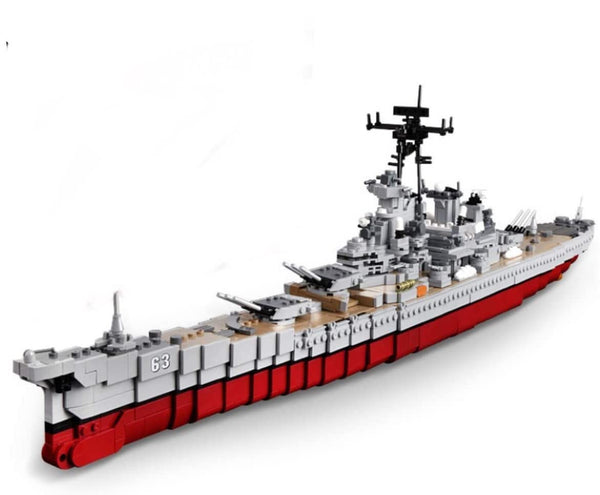 Large USS Missouri Battleship Building Blocks Set