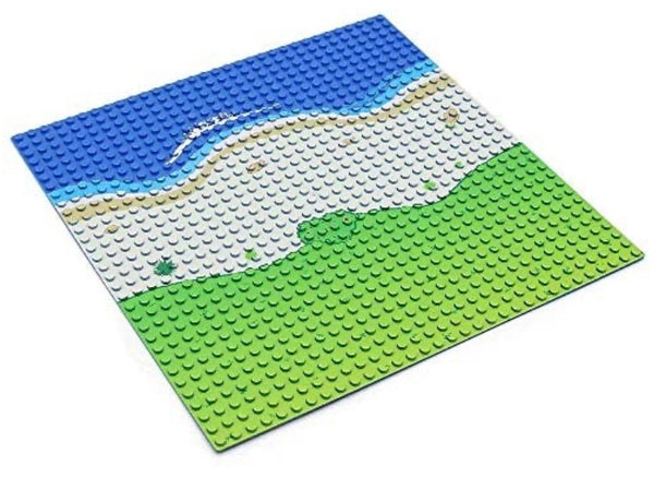 4 Pack Oasis Beach Straight Road Base Plate Baseplates 10 x 10-General Jim's Toys & Bricks