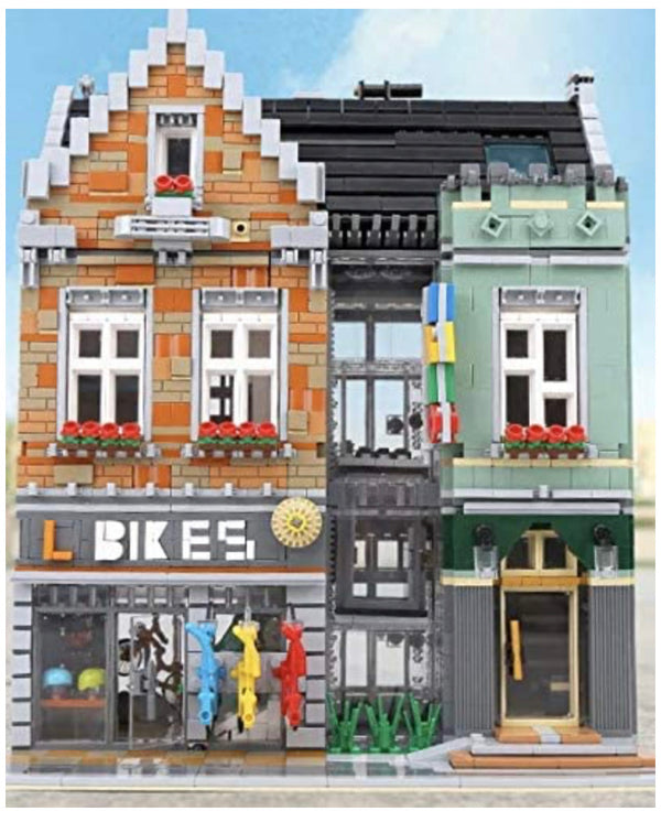 The Bike Shop Streetview City Creator Building Blocks Toy Brick Set-General Jim's Toys & Bricks
