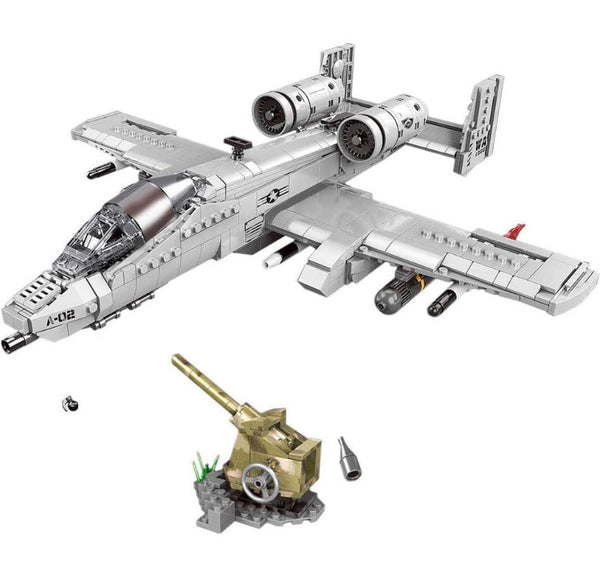 A-10 Fighter Thunderbird Aircraft Plane Building Blocks Toy Set-General Jim's Toys & Bricks