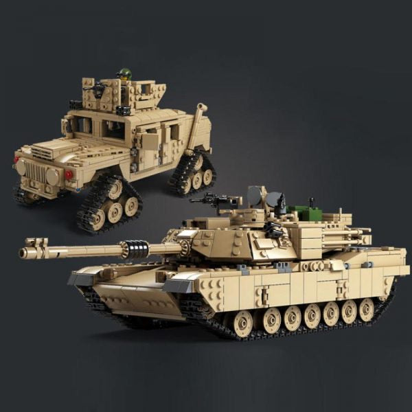 US M1A2 Abrams Main Battle Tank & Hummer Toy Model Build-General Jim's Toys & Bricks