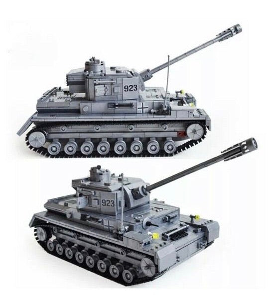 WW2 Tank (German F2 Tiger 323 Tank) Building Blocks Toy Set-General Jim's Toys & Bricks