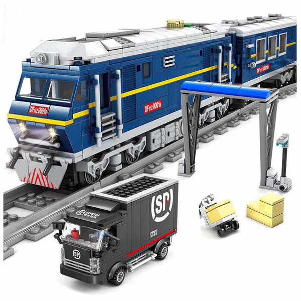 City Series Power Blue Diesel Cargo Train  Set