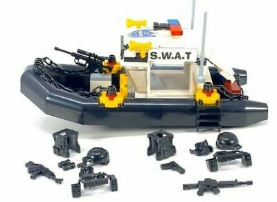 Police Swat Military Patrol Boat Toy 168pc Building Blocks Set-General Jim's Toys & Bricks