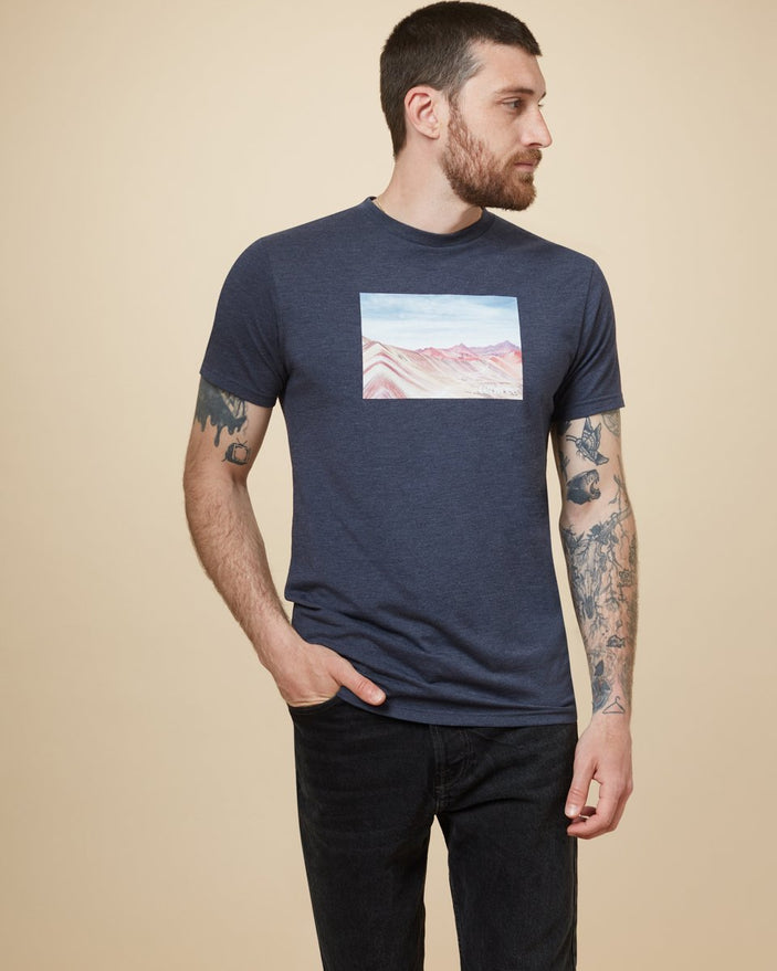 Image of product: T-shirt Rainbow Mountain Peru homme