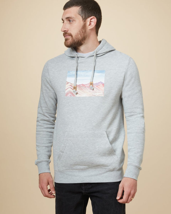 Image of product: Sweat à capuche Rainbow Mountain Peru homme