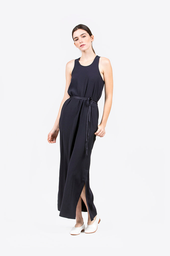 M. Martin - Crepe Satin Tank Dress — Kick Pleat