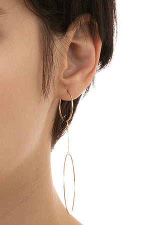 HIROTAKA - Double Hoop Earring, gold