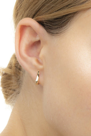 HIROTAKA - cygnus earring S pair, yellow and rose gold